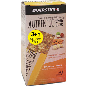 OVERSTIM.s Authentic Boîte De Barres 3+1 x 65g, banana almond